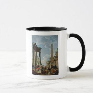 ArchitekturCapriccio mit einem Prediger Tasse