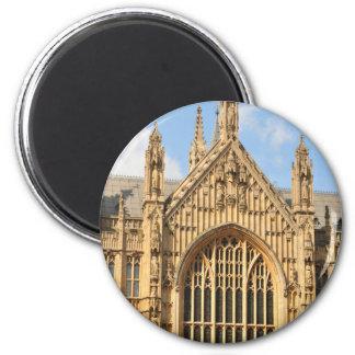 Architekturdetail des gotischen Fensters Runder Magnet 5,1 Cm