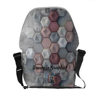 Architekturhexagon-mittlere Bote-Tasche Kuriertasche