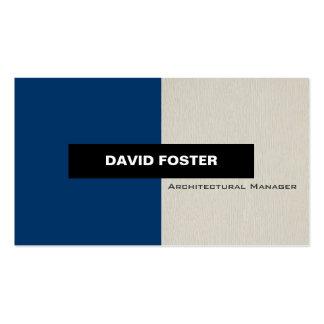 Architekturmanager - einfaches elegantes visitenkarte