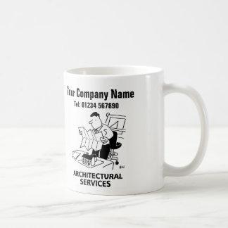 Architekturservice-Cartoon-Tasse Kaffeetasse