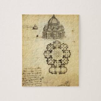 Architekturskizze durch Leonardo da Vinci Puzzle