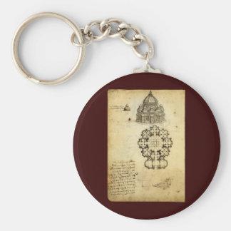 Architekturskizze durch Leonardo da Vinci Schlüsselanhänger