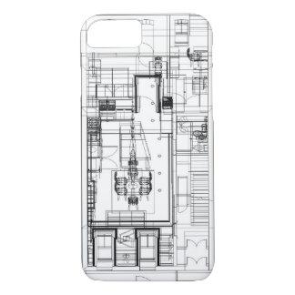 Architekturwireframe Grundriss iPhone 8/7 Hülle