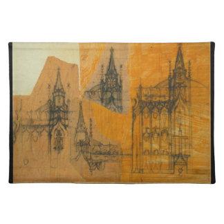 Architekturzeichnen - gotische Kirche Tisch Sets