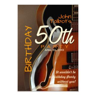 Archtop Gitarre 50. Geburtstags-Party Einladung