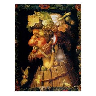 Arcimboldo Herbst-Postkarte Postkarte