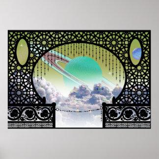 Ardana Wolken-Stadt-Bungalow ~ interplanetarische Poster