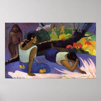 Arearea kein Varua Ino - Paul Gauguin-Druck Plakatdruck