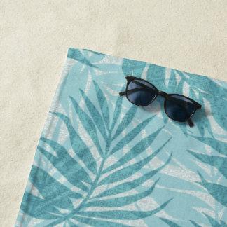 Arekanuss-Palmen-hawaiisches tropisches Vintages Strandtuch