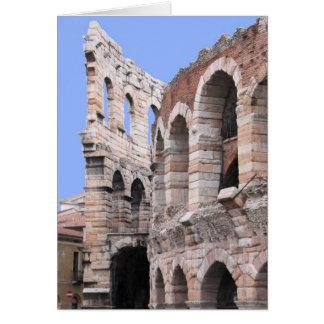 Arena Veronas, Italien - löschen Sie innere Grußkarte