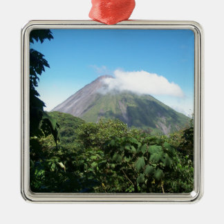 Arenal-Vulkan Silbernes Ornament