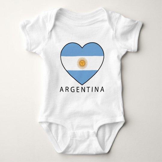 Argentina Heart Flag Soccer Baby Strampler