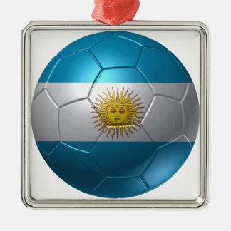 Argentinien-Ball Silbernes Ornament