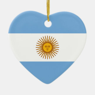 Argentinien-Flagge Keramik Ornament