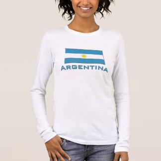 Argentinien-Flagge Langarm T-Shirt