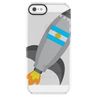 Argentinien-Flagge Rocket Durchsichtige iPhone SE/5/5s Hülle