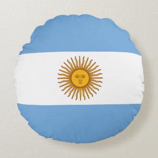 Argentinien-Flagge Rundes Kissen
