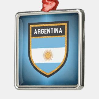 Argentinien-Flagge Silbernes Ornament