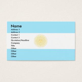 Argentinien-Flagge Visitenkarte
