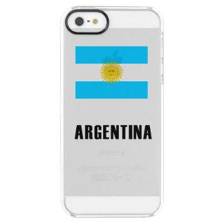 Argentinien-Flaggen-einfache Dunkelheit Durchsichtige iPhone SE/5/5s Hülle