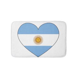 Argentinien-Flaggen-Herz Badematte
