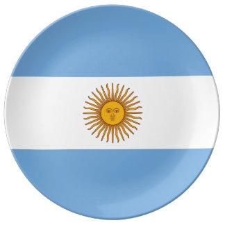 ARGENTINIEN-Flaggen-Porzellan-Platte Porzellanteller