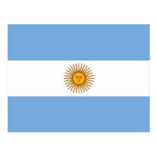 Argentinien-Flaggen-Postkarte Postkarte