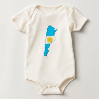 Argentinien-Flaggenkarte Baby Strampler