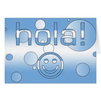 Argentinien-Geschenke: Hallo/Hola + Smiley Karte