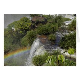 Argentinien, Iguacu Fälle. Regenbogen bei Iguacu Karte
