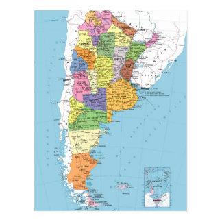 Argentinien-Karte Postkarte