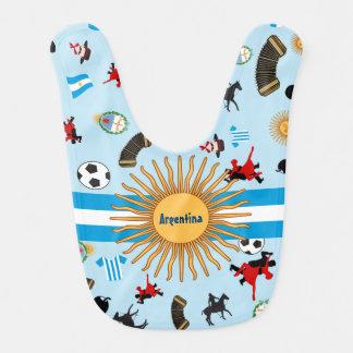 Argentinien-Landesflagge mit berühmten Babylätzchen