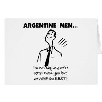Argentinien-Männer Karte