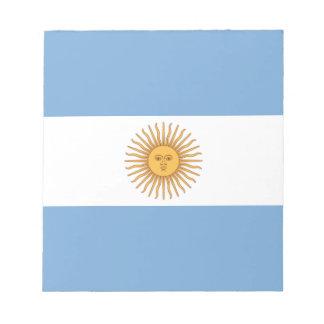 Argentinien Notizblock