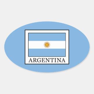 Argentinien Ovaler Aufkleber