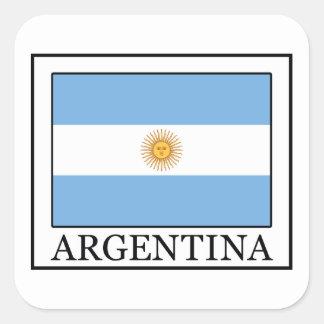 Argentinien Quadrat-Aufkleber