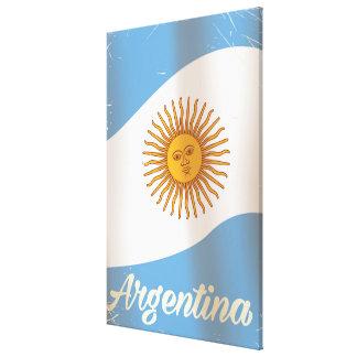 Argentinien-Staatsflaggeferienplakat Leinwanddruck