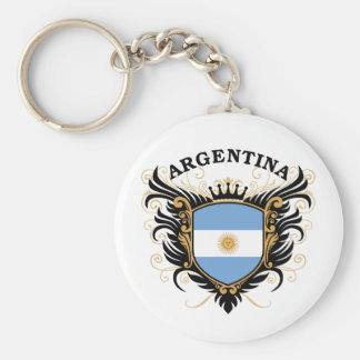 Argentinien Standard Runder Schlüsselanhänger