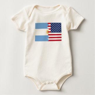 Argentinische amerikanische Flagge Baby Strampler