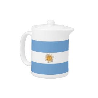 Argentinische Flaggen-Teekanne