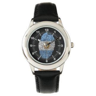Argentinische Touchfingerabdruckflagge Armbanduhr