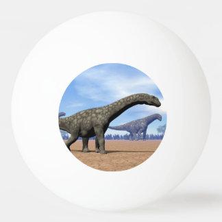 Argentinosaurusdinosaurierweg - 3D übertragen Ping-Pong Ball