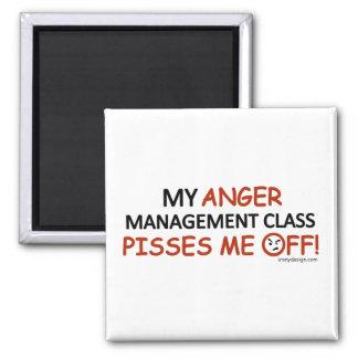 Ärger-Management Quadratischer Magnet