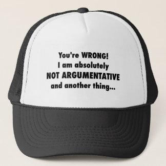 Argumentativ? Ich? Truckerkappe