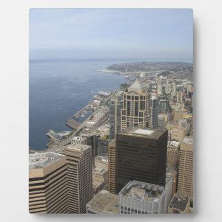 Arial Ansicht von Seattle Fotoplatte