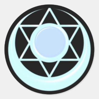 Arianrhod Symbol keltisch Mond Runder Aufkleber