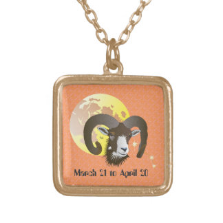Aries March 21 to April 20 Necklaces Vergoldete Kette