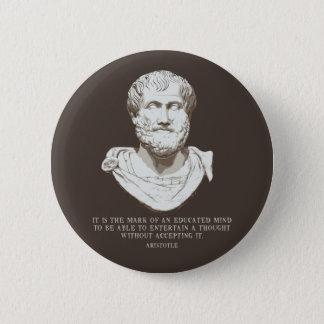 Aristoteles erzog Verstand Runder Button 5,1 Cm
