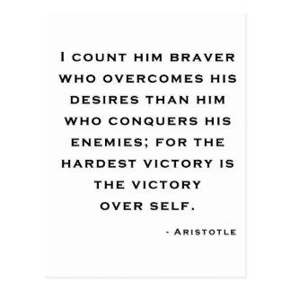 Aristoteles - Sieg über Selbst Postkarte